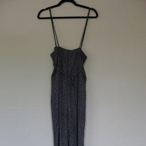 Thin striped jumpsuit